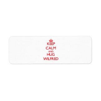 Keep Calm and HUG Wilfred Custom Return Address Label
