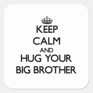 Keep Calm and Hug your Big Brother Sticker