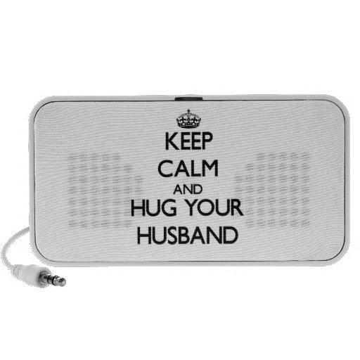 Keep Calm and Hug your Husband iPod Speakers