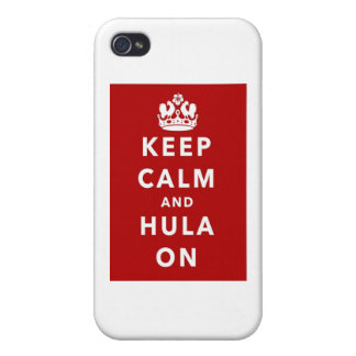 Keep Calm and Hula On Cover For iPhone 4