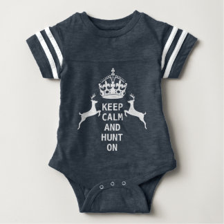 KEEP CALM AND HUNT ON BABY BODYSUIT