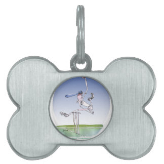 keep calm and hurl that ball, tony fernandes pet ID tag