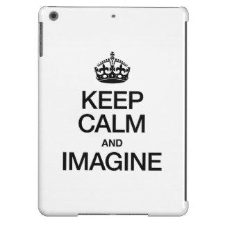 KEEP CALM AND IMAGINE iPad AIR CASES