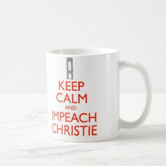 Keep Calm and Impeach Christie Coffee Mug