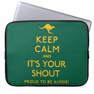 Keep Calm and It's Your Shout! Laptop Sleeve