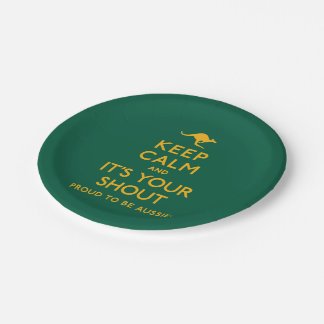 Keep Calm and It's Your Shout! Paper Plate