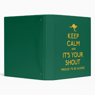 Keep Calm and It's Your Shout! Vinyl Binders