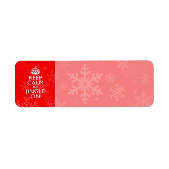 Keep Calm And Jingle On Red Decor