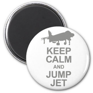 Keep Calm and Jump Jet 2 Inch Round Magnet