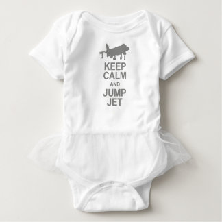 Keep Calm and Jump Jet Baby Bodysuit
