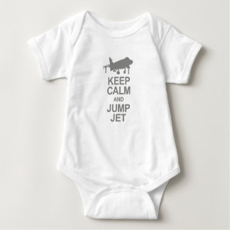 Keep Calm and Jump Jet Baby Bodysuit