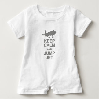 Keep Calm and Jump Jet Baby Romper