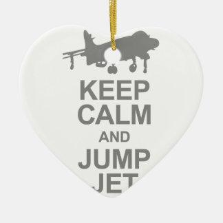 Keep Calm and Jump Jet Ceramic Ornament