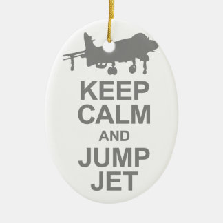 Keep Calm and Jump Jet Ceramic Ornament