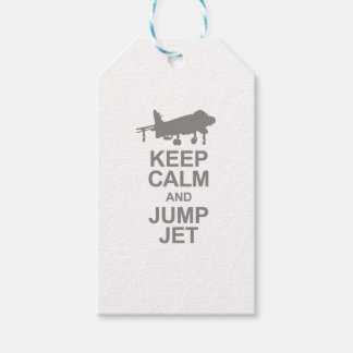 Keep Calm and Jump Jet Gift Tags