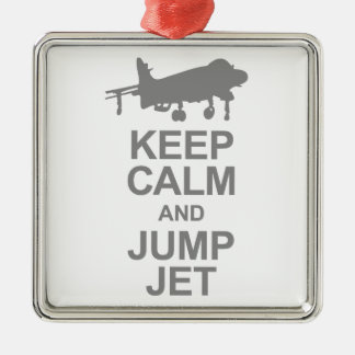 Keep Calm and Jump Jet Metal Ornament