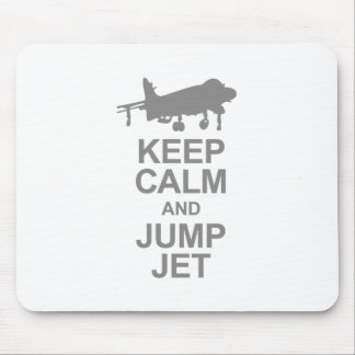 Keep Calm and Jump Jet Mouse Pad