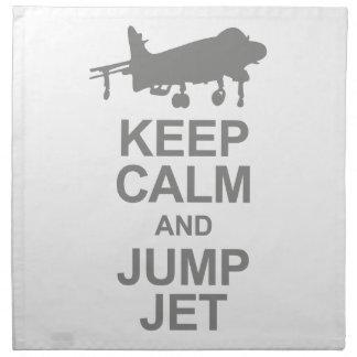 Keep Calm and Jump Jet Napkin