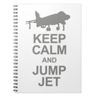 Keep Calm and Jump Jet Notebook