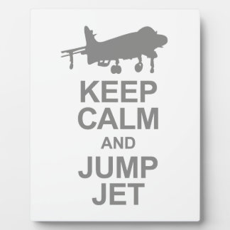 Keep Calm and Jump Jet Plaque