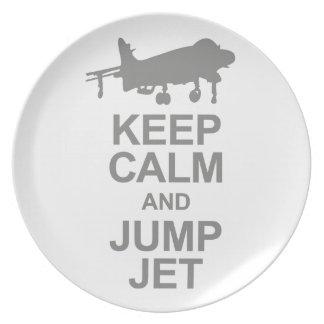 Keep Calm and Jump Jet Plate