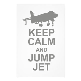 Keep Calm and Jump Jet Stationery Design