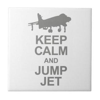 Keep Calm and Jump Jet Tile