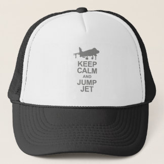 Keep Calm and Jump Jet Trucker Hat