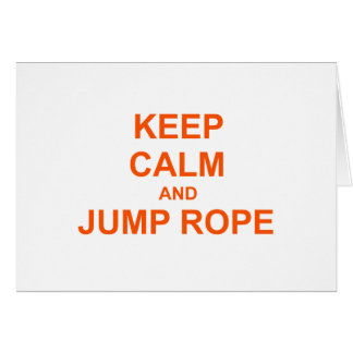 Keep Calm and Jump Rope orange pink red Card