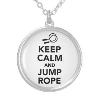 Keep calm and Jump rope Silver Plated Necklace