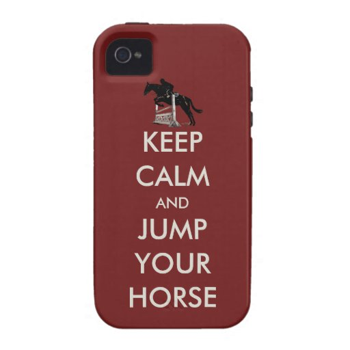 Keep Calm and Jump Your Horse iPhone 4 case