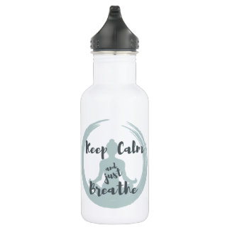 Keep Calm and Just Breathe 532 Ml Water Bottle