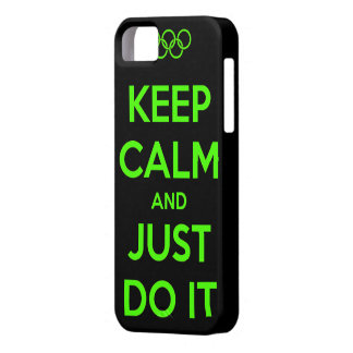 Keep Calm and just do it. iPhone 5 Case
