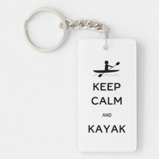 Keep Calm and Kayak Keychain