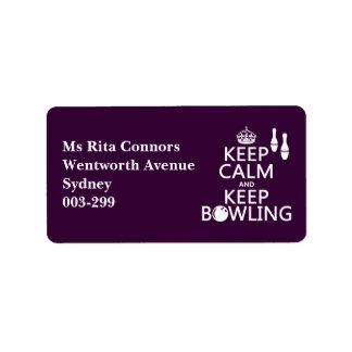 Keep Calm and Keep Bowling - all colours