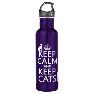Keep Calm and Keep Cats 710 Ml Water Bottle