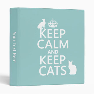 Keep Calm and Keep Cats Binder