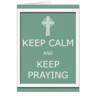 Keep Calm and Keep Praying Cards