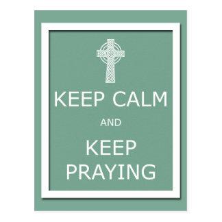 Keep Calm and Keep Praying Post Cards
