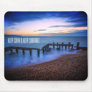 Keep calm and keep surfing mouse pad. mouse pad