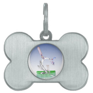 keep calm and keep your head, tony fernandes pet ID tag