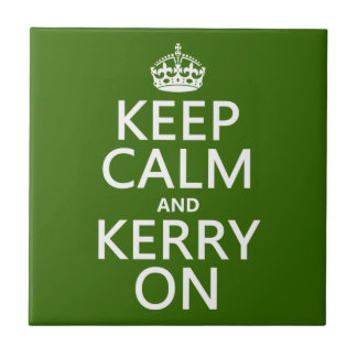 Keep Calm and Kerry On (any background color) Tile