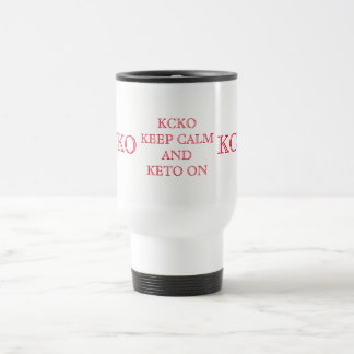 KEEP CALM AND KETO ON MUG