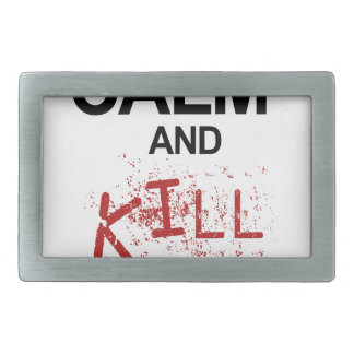 Keep Calm And Kill Zombies Belt Buckles