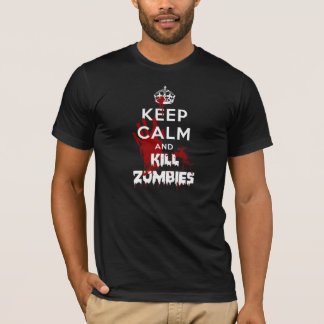 Keep Calm And Kill Zombies Black T-Shirt