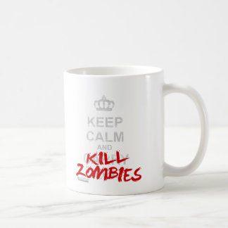 Keep Calm And Kill Zombies - Carry On Gamer Geek Basic White Mug