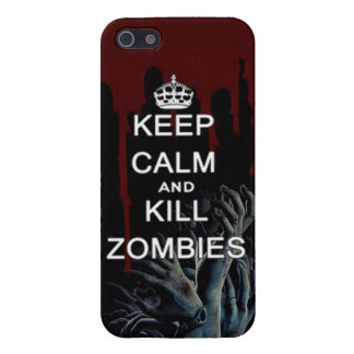 keep calm and kill zombies iPhone 5/5S case