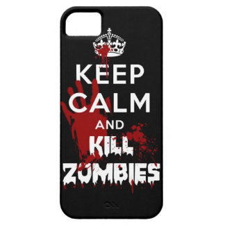 Keep Calm And Kill Zombies iPhone 5 Black Case