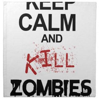 Keep Calm And Kill Zombies Napkin