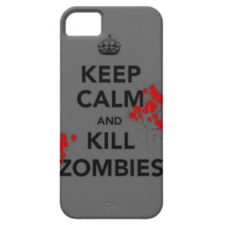 keep calm and kill zombies phone case